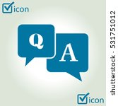 question answer icon. q a sign... | Shutterstock .eps vector #531751012