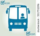 bus icon. schoolbus simbol. | Shutterstock .eps vector #531751096