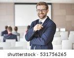 portrait of happy businessman... | Shutterstock . vector #531756265