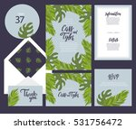 set of templates  for wedding... | Shutterstock .eps vector #531756472