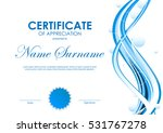 certificate of appreciation... | Shutterstock .eps vector #531767278