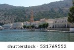 Small photo of Picturesque island of Symi, Archangel Michael of Panormitis Monastery, Dodecanese, Aegean, Greece