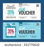 christmas gift voucher coupon... | Shutterstock .eps vector #531770632