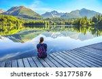 beautiful young girl sitting... | Shutterstock . vector #531775876