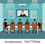 business meeting design with... | Shutterstock .eps vector #531775966