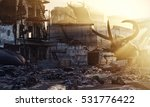 ruined city by giant insects....   Shutterstock . vector #531776422