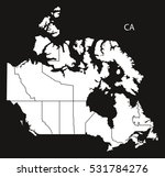 canada map  black country... | Shutterstock .eps vector #531784276