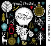 christmas and new year hand... | Shutterstock .eps vector #531784702