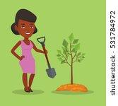 an african american woman... | Shutterstock .eps vector #531784972