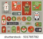 christmas cards and tags set ... | Shutterstock .eps vector #531785782