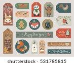 christmas gift tags set  hand... | Shutterstock .eps vector #531785815