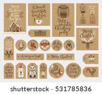 christmas kraft paper cards and ... | Shutterstock .eps vector #531785836