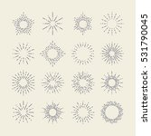 set of vintage sunbursts in... | Shutterstock .eps vector #531790045