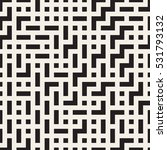 irregular maze lines. vector... | Shutterstock .eps vector #531793132