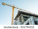 crane is used in the... | Shutterstock . vector #531794332
