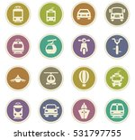 public transport icon set for... | Shutterstock .eps vector #531797755