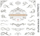 calligraphy swirls  swashes ... | Shutterstock .eps vector #531799072