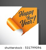 paper corner cut out with happy ... | Shutterstock .eps vector #531799096