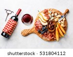 meat and cheese plate antipasti ... | Shutterstock . vector #531804112
