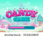 candy game title loading screen.... | Shutterstock .eps vector #531810805