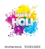 holi spring festival of colors... | Shutterstock .eps vector #531812602
