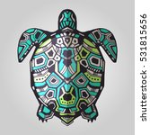 zentangle graphic turtle. hand... | Shutterstock .eps vector #531815656