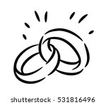 wedding rings vector... | Shutterstock .eps vector #531816496