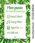 recreational marijuana cannabis ... | Shutterstock .eps vector #531818806