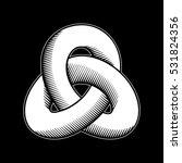 triple mobius loop impossible... | Shutterstock .eps vector #531824356