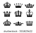 set of crowns isolated on white ... | Shutterstock .eps vector #531825622
