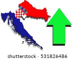 Croatia Map On White Backgroun...