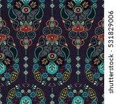 vertical ornamental seamless... | Shutterstock .eps vector #531829006