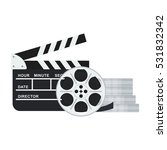 black clapper board for film... | Shutterstock .eps vector #531832342