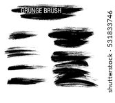vector set of grunge brush... | Shutterstock .eps vector #531833746