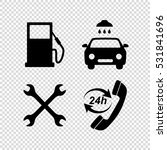 gas station  service icons set | Shutterstock .eps vector #531841696
