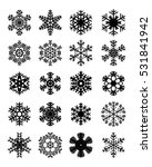 set of different snowflakes ... | Shutterstock .eps vector #531841942