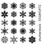 set of different snowflakes ... | Shutterstock .eps vector #531841972