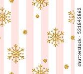 christmas gold snowflake...   Shutterstock .eps vector #531843862