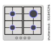 surface of white gas hob stove... | Shutterstock .eps vector #531845296