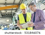 supervisor and manual worker... | Shutterstock . vector #531846076