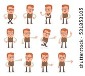 set of smart and cute character ... | Shutterstock .eps vector #531853105