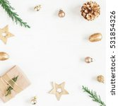 christmas composition. gift ... | Shutterstock . vector #531854326