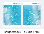 scientific brochure design... | Shutterstock .eps vector #531854788