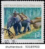 vietnam   circa 1973  a post... | Shutterstock . vector #53185903