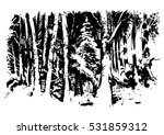 the winter forest in snow. wood ...   Shutterstock .eps vector #531859312