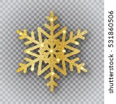 shine golden snowflake with... | Shutterstock .eps vector #531860506