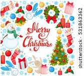 round frame with christmas... | Shutterstock .eps vector #531863362