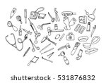 medical instruments doodle icon | Shutterstock .eps vector #531876832