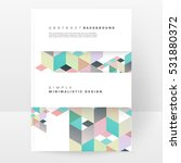 geometric background template...   Shutterstock .eps vector #531880372
