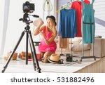 joyful woman maintaining... | Shutterstock . vector #531882496
